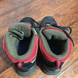 izod shoes adair hiking boots mens 9 black red gray poshmark
